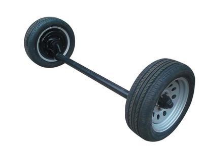 2T单胎电刹凹式车桥